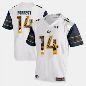 #14 White Chase Forrest Cal Bears Jersey Player Pictorial For Men