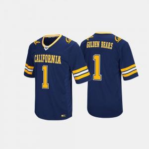 Navy #1 Cal Bears Jersey Mens Hail Mary II