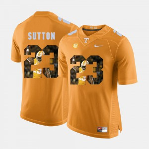 Orange #23 Cameron Sutton UT Jersey Pictorial Fashion Men