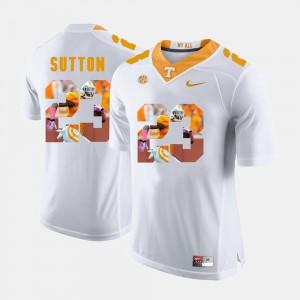 Cameron Sutton UT Jersey White Pictorial Fashion Men #23