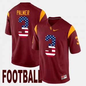 Carson Palmer USC Jersey US Flag Fashion Mens Maroon #3
