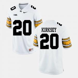 Men #20 Alumni Football Game Christian Kirksey Iowa Jersey White