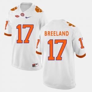 College Football White For Men #17 Bashaud Breeland Clemson Jersey