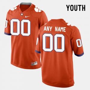 Youth(Kids) Clemson Custom Jerseys Orange College Limited Football #00