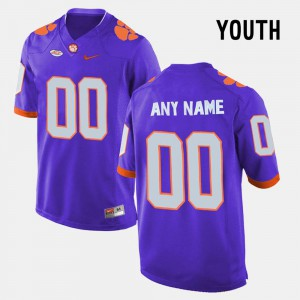 Clemson Custom Jerseys College Limited Football #00 For Kids Purple