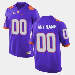 Purple #00 College Limited Football Men's Clemson Custom Jerseys