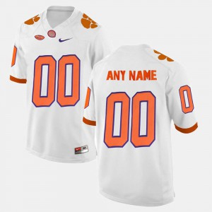 Clemson Customized Jerseys Men's White #00 College Limited Football
