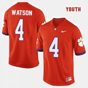 Kids Deshaun Watson Clemson Jersey College Football #4 Orange