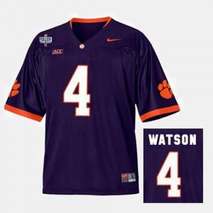 College Football Mens Deshaun Watson Clemson Jersey Purple #4