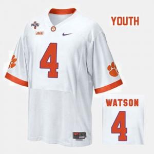 Deshaun Watson Clemson Jersey White For Kids College Football #4