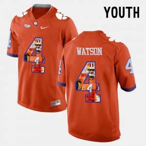 Orange DeShaun Watson Clemson Jersey Youth Pictorial Fashion #4