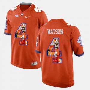 Pictorial Fashion For Men Orange #4 DeShaun Watson Clemson Jersey