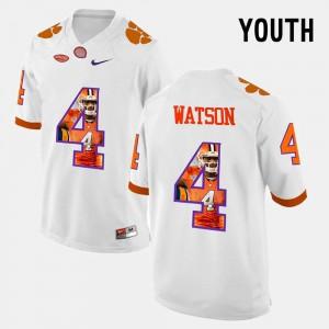 For Kids Pictorial Fashion #4 DeShaun Watson Clemson Jersey White