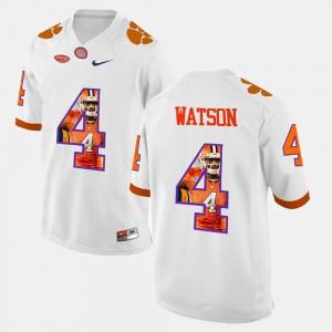 DeShaun Watson Clemson Jersey #4 Pictorial Fashion Men's White