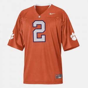 College Football #2 Sammy Watkins Clemson Jersey Men's Orange