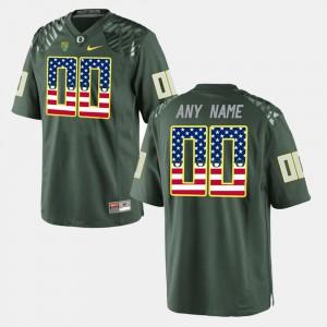 US Flag Fashion Men's Green Oregon Custom Jerseys #00