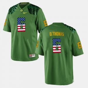 De'Anthony Thomas Oregon Jersey US Flag Fashion Green Men #6