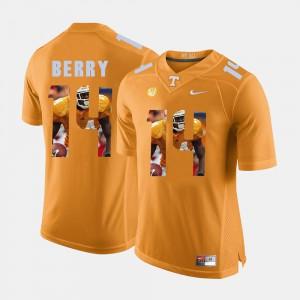 Eric Berry UT Jersey #14 Pictorial Fashion Orange Mens
