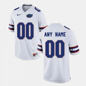 #00 College Limited Football White Gators Customized Jerseys Men's
