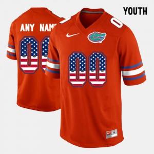 Orange Youth #00 US Flag Fashion Gators Custom Jerseys