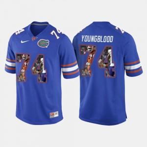 College Football Royal Blue Jack Youngblood Gators Jersey #74 Men's