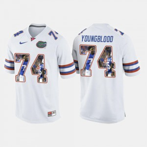 College Football For Men's White #74 Jack Youngblood Gators Jersey