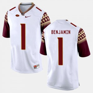 For Men White College Football BKelvin Benjamin FSU Jersey #1
