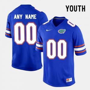 For Kids FSU Custom Jersey College Limited Football Blue #00