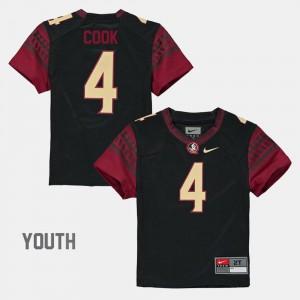 Youth(Kids) #4 Black Alumni Football Game Dalvin Cook FSU Jersey