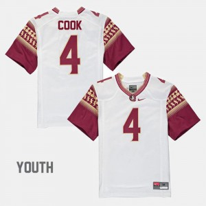 #4 Alumni Football Game Kids Dalvin Cook FSU Jersey White