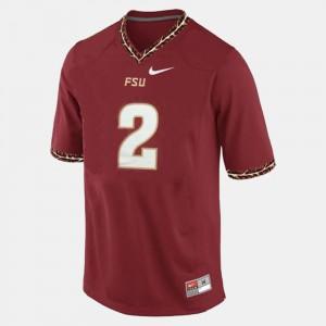 Deion Sanders FSU Jersey #2 Red For Men's College Football