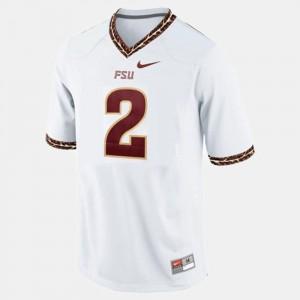 College Football Men's #2 White Deion Sanders FSU Jersey
