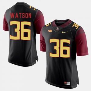College Football #36 Black Dekoda Watson FSU Jersey For Men