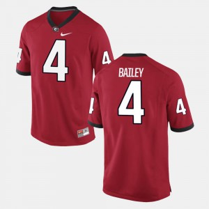 Alumni Football Game Red For Men's Champ Bailey UGA Jersey #4