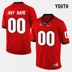 Red #00 College Limited Football UGA Custom Jersey Kids