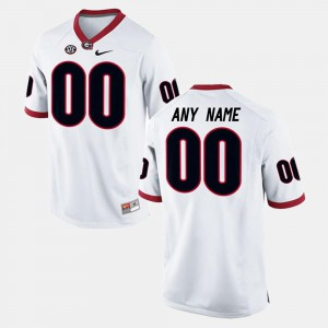 White Men's College Limited Football UGA Customized Jersey #00