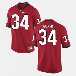 #34 Mens Alumni Football Game Herschel Walker UGA Jersey Red
