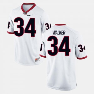Men's #34 White Herschel Walker UGA Jersey Alumni Football Game