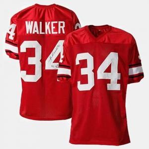 For Kids #34 College Football Red Herschel Walker UGA Jersey
