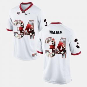 For Men Herschel Walker UGA Jersey White Player Pictorial #34