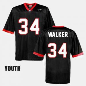 Youth Black College Football #34 Herschel Walker UGA Jersey