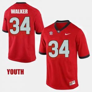 Youth(Kids) College Football Herschel Walker UGA Jersey #34 Red