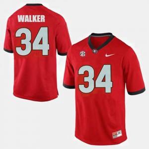#34 Herschel Walker UGA Jersey Men's College Football Red