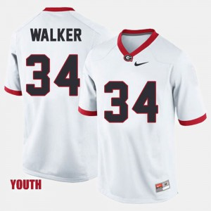 College Football Herschel Walker UGA Jersey White Youth #34