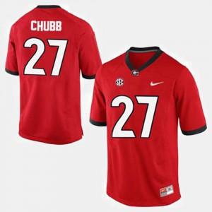 Nick Chubb UGA Jersey Men's College Football Red #27
