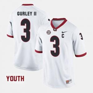 Kids #3 College Football Todd Gurley II UGA Jersey White