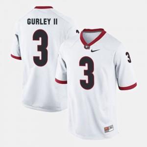 #3 Todd Gurley II UGA Jersey Men College Football White