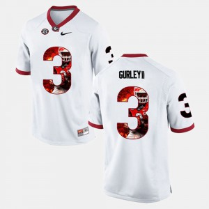 Todd Gurley II UGA Jersey #3 Player Pictorial For Men White