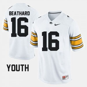 #16 C.J. Beathard Iowa Jersey White Youth(Kids) College Football