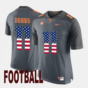 Joshua Dobbs UT Jersey #11 Mens US Flag Fashion Gray